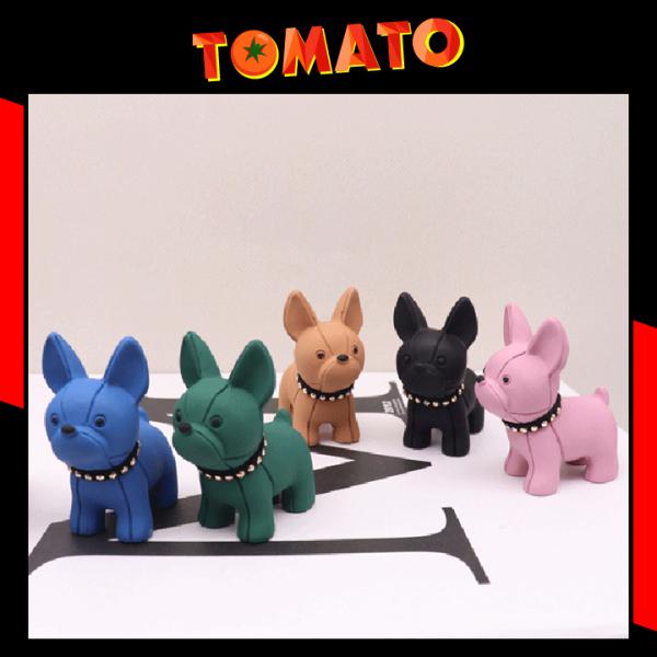 Móc Khóa Hình Chó Bulldog Siêu Cute Có Kèm Dây Móc - Phụ Kiện Tomato