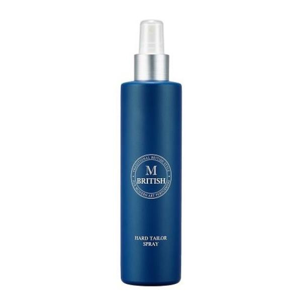 Gôm(keo) xịt tạo kiểu giữ nếp tóc cứng tự nhiên không gây tổn hại tóc dùng cho cả nam và nữ BRITISH M Hard Tailor Spray 250ml
