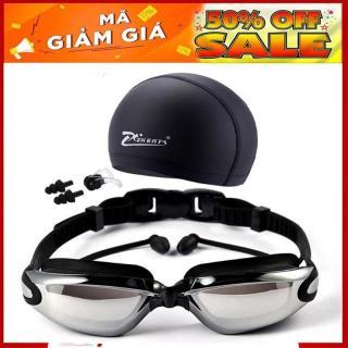 Sét mũ kèm kính bơi, Combo kính bơi mũ bơi, Kính bơi UV kèm Mũ bơi và 2 nút bịt tai, Thiết Kế Mới Thông Minh,Thoải Mái Bơi Lội giảm giá sốc hôm nay, bảo hành trên toàn quốc thumbnail