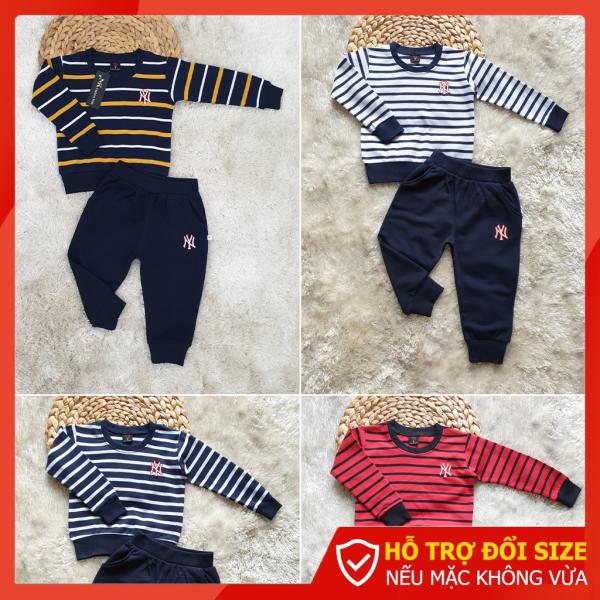 Set đồ bộ cotton bé trai dài tay 8 - 30kg | Set thời trang đồ bộ cho bé trai | SKU MS026