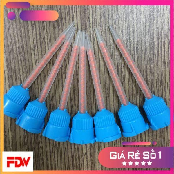 50 Đầu trộn keo 2 thành phần tỉ lệ 10:1 - Kim màu xanh đầu nhọn - Kim trục xoắn - Kim trộn keo glue mixer