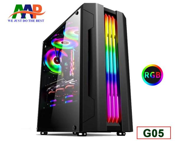Case AAP G05 GAMING (Hông trong suốt + Led RGB)