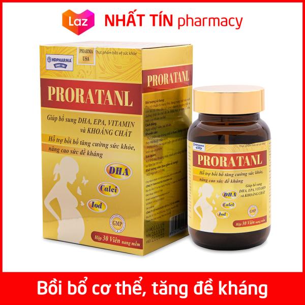 Vitamin tổng hợp Proratanl bổ sung DHA, EPA, khoáng chất, tăng cường sức khỏe cho phụ nữ mang thai và cho con bú - Chai 30 viên