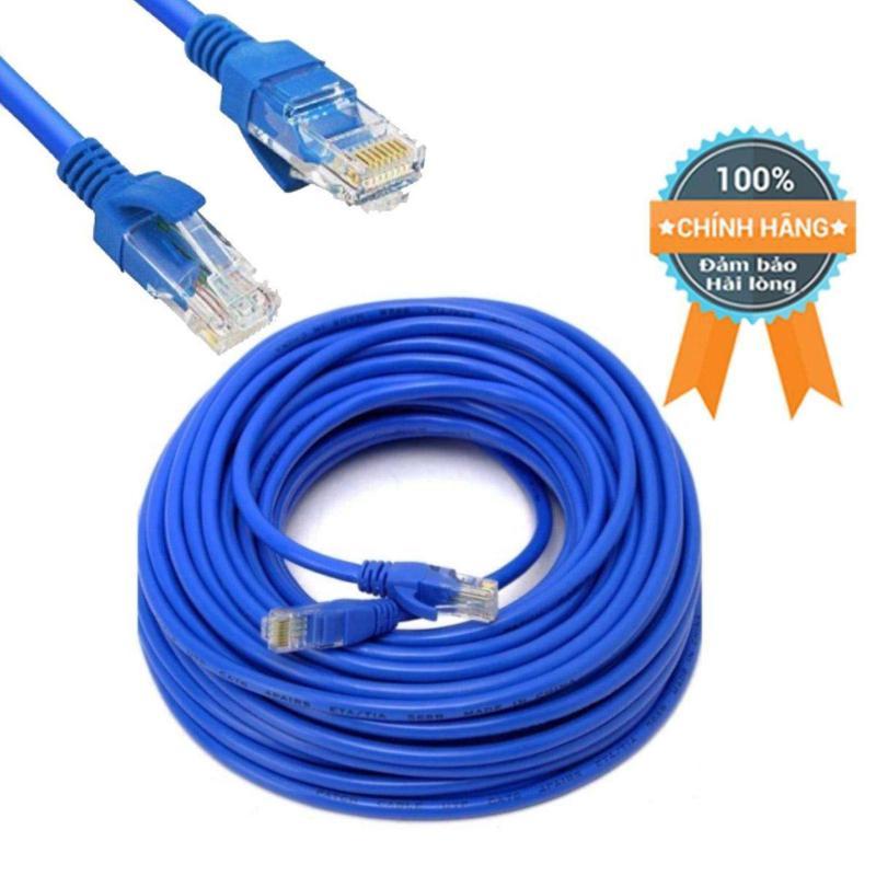 Bảng giá Cáp mạng chất lượng 15mét CAT 5E lõi đồng, đúc sẵn đầu, dùng cho wifi không dây, PC, TV, CameraIP (Màu xám, xanh) Phong Vũ