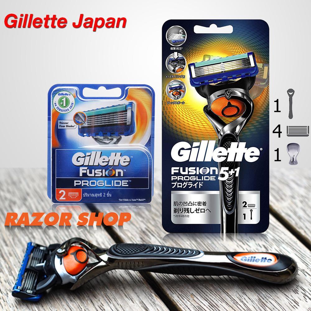Dao cạo râu Gillette Fusion 5 + 1 Proglide (Combo 01 cán + 04 lưỡi thay thế) chính hãng