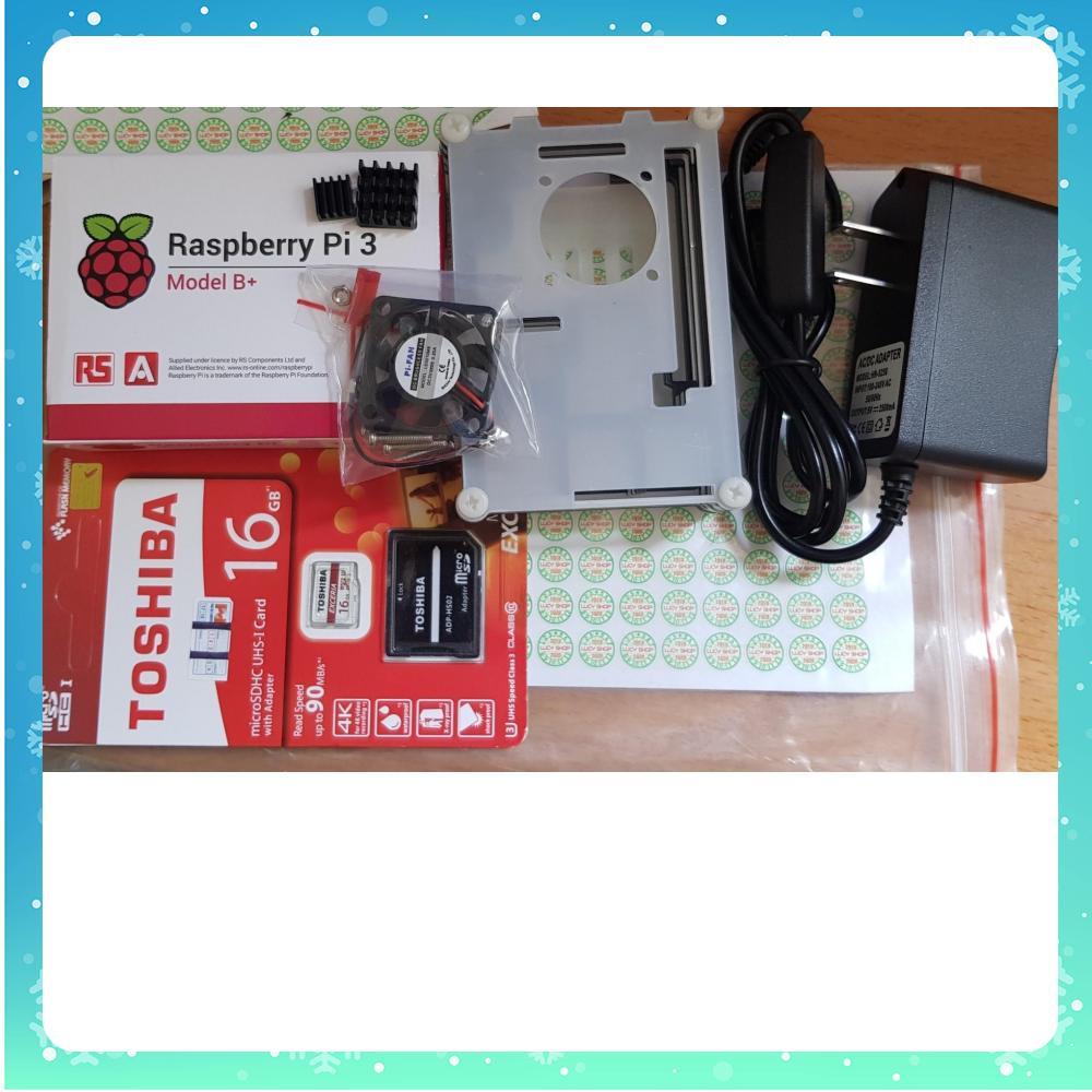 Combo máy tính Raspberry Pi 3 Model B+ Made in UK