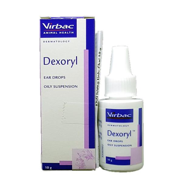 Chữa viêm tai và rận tai Dexoryl Virbac 10g cho chó mèo - CutePets