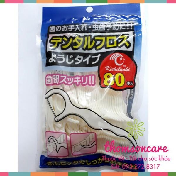 Chỉ nha khoa Nhật - tăm chỉ kẽ răng - Túi 80 cái giá rẻ