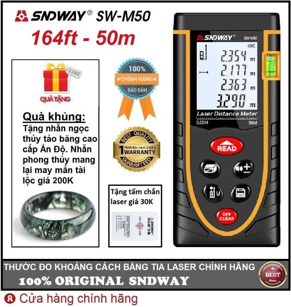 Thước đo khoảng cách bằng tia laser SNDWAY SW-M50 phạm vi đo 50m