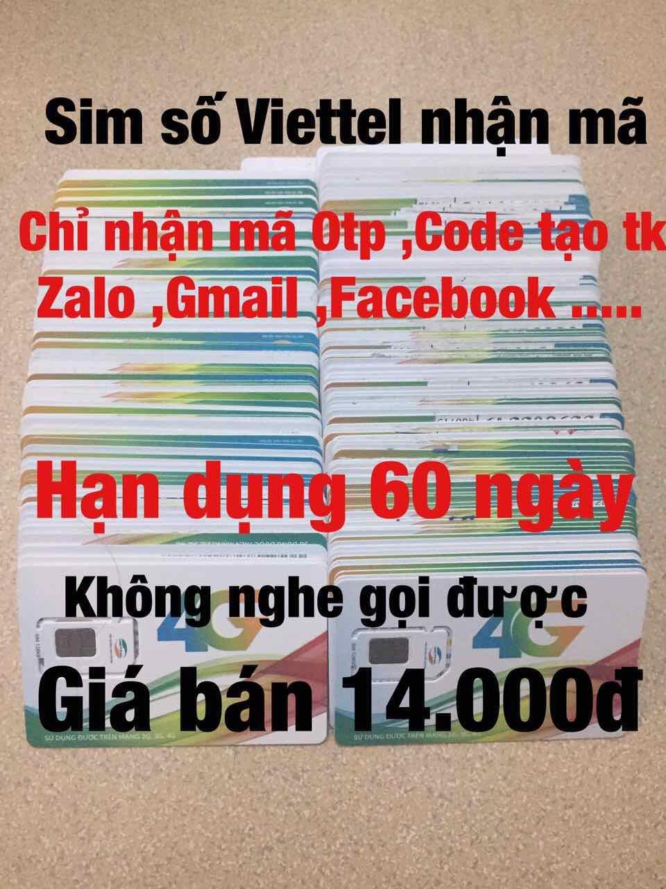 Sim Số Viettel Nhận Mã 14K Giá Cực Cool