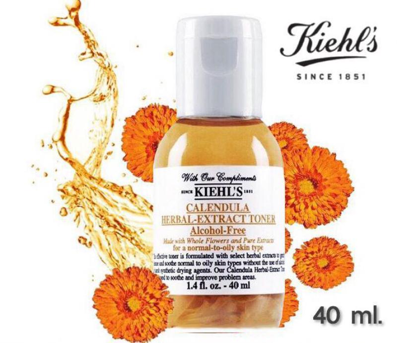 Nước Hoa Hồng Hoa Cúc Kiehl's Calendula Herbal Extract Toner 40ML - Ngăn ngừa lão hóa, làm sạch da với mùi hương thơm lâu cao cấp