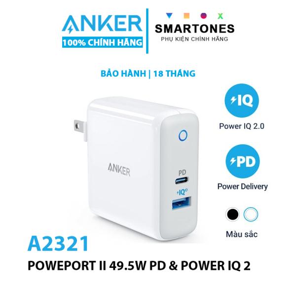[Anker Việt Nam] Sạc Anker PowerPort II PD 49.5w (1 PD và 1 IQ 2.0) - A2321