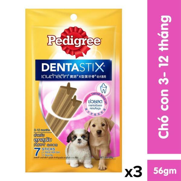 Bộ 3 bánh xương chó nhỏ Pedigree Dentastix 56g