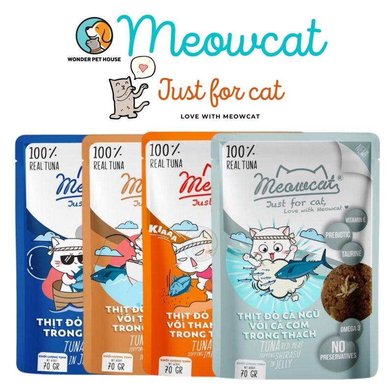 Pate MEOWCAT cho mèo gói 70gr - Đủ vị Thơm Ngon