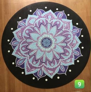 Thảm tập Yoga tròn hoa văn siêu đẹp Tặng túi đựng thảm thumbnail