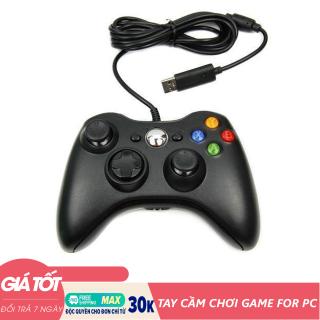 Tay cầm chơi game USB for PC 360 có dây - Tay cầm chơi game - Tay cầm PC (Màu ngẫu nhiên) thumbnail