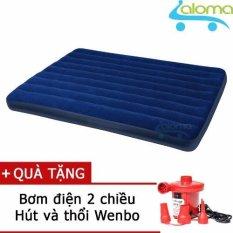 Đệm Bơm Hơi Intex 68759 Tặng Bơm Điện 152X191X22Cm Trong Hà Nội