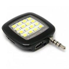 Hình ảnh Đèn flash 16 bóng led hỗ trợ chụp hình cho điên thoại (Đen) - Hàng nhập khẩu