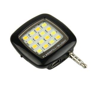 Đèn flash 16 led giắc 3.5 cho điên thoại Fourtech (Đen) thumbnail