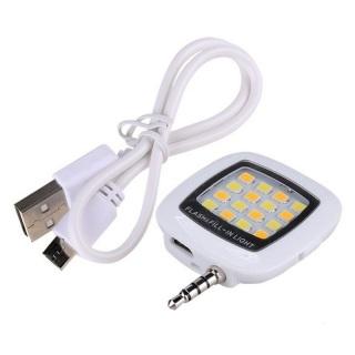 Đèn flash 16 led giắc 3.5 cho điên thoại MT Fourtech (Trắng) thumbnail