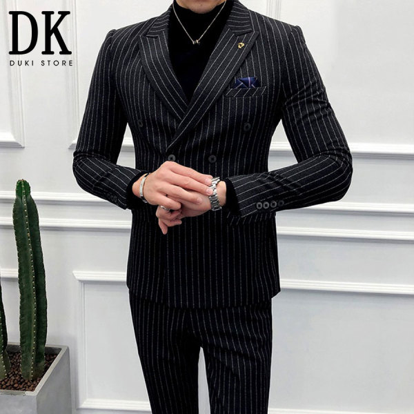 Bộ vest nam kẻ sọc đen Hàn Quốc sang trọng giá tại xưởng - DUKI STORE