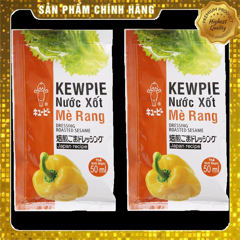 Combo 2 Gói Xốt Salad Mè Rang Kewpie Gói 15ml - Phù hợp giảm cân, ăn KETO