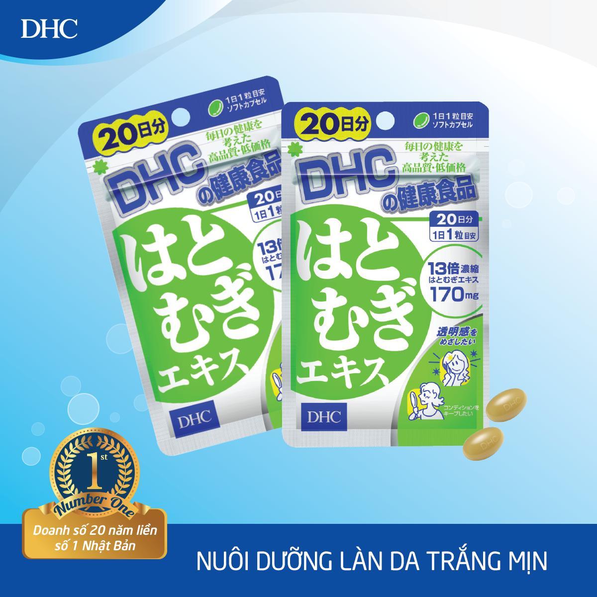 Viên uống Trắng da DHC Adlay Extract Gói 20 Ngày chính hãng