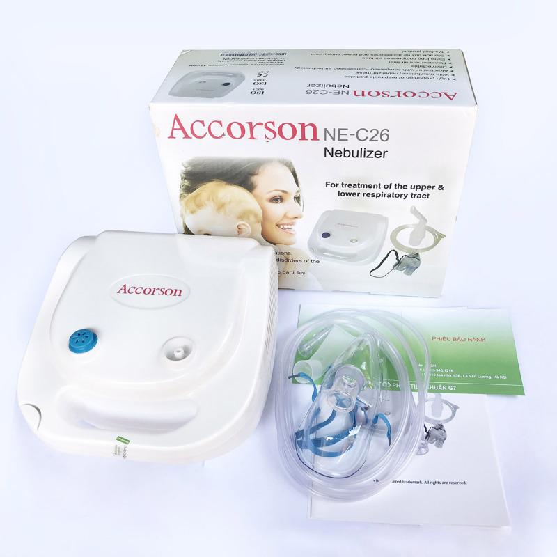 [CÔNG NGHỆ ĐỨC] Máy khí dung, máy xông mũi họng Accorson NE C26 – Chuyên đ𝐢𝐞̂̀𝐮 𝐭𝐫𝐢̣ viêm phổi, viêm phế quản, viêm xoang