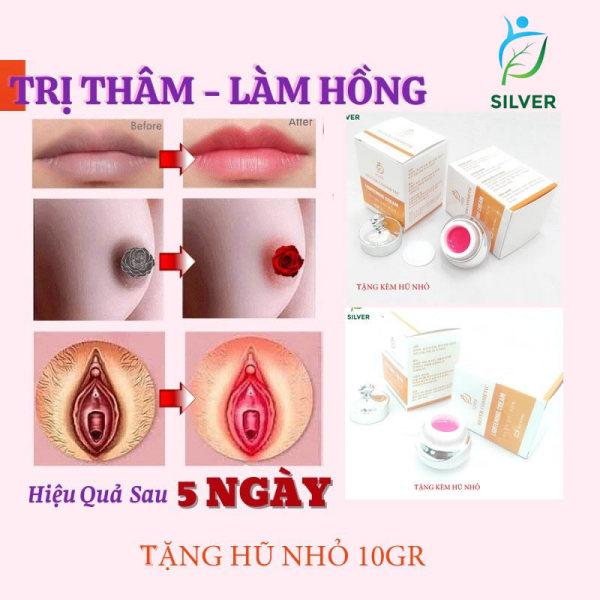 Kem Làm Hồng Nhũ  Hoa - Hồng Vùng Kín - Hồng Môi SILVER20gr giá rẻ