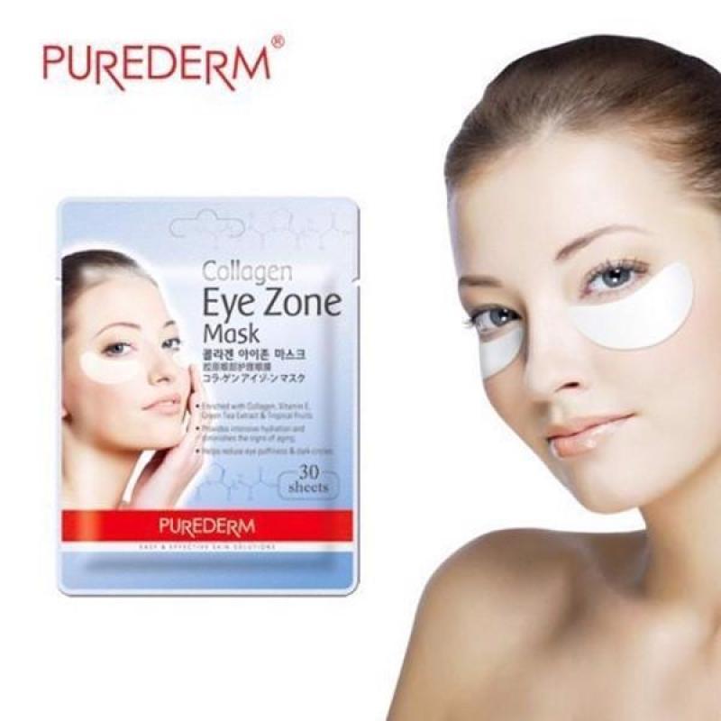 Mặt nạ dưỡng mắt PUREDERM Collagen Eye Zone Mask 30 Sheet - Cung cấp collagen chống nhăn và lão hóa vùng mắt giá rẻ