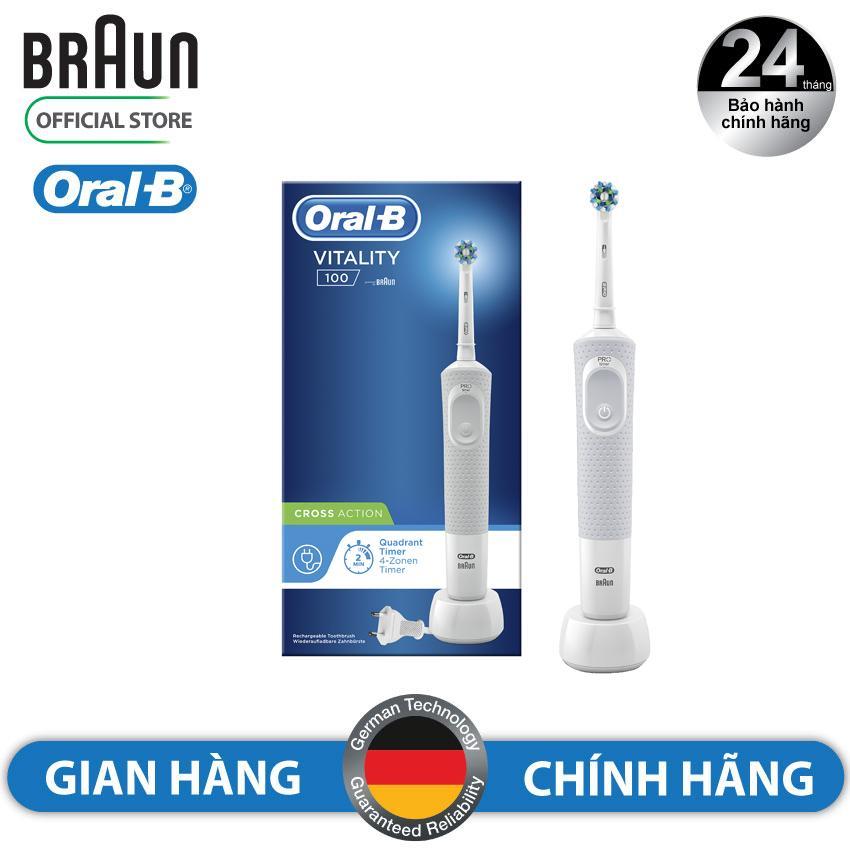 Giá Bàn Chải Đánh Răng Điện Oral - B Vitality 100 CrossAction White D100.413.1