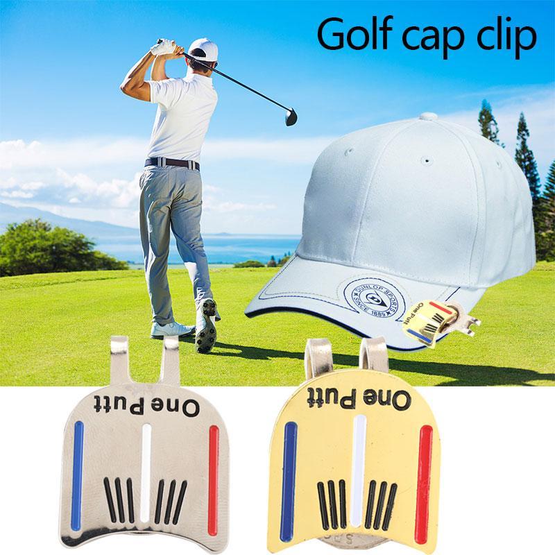 Mingrui One Putt Alloy Golf Ball Marker Golf Cap Clip Golf Hat Clip Magnetic - 2