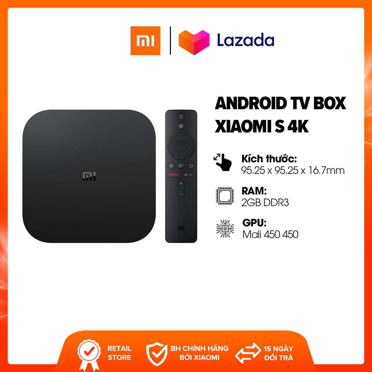 [FREESHIP] Android TV Box Xiaomi S 4K (3840 X 2160) L CPU 4 Nhân, RAM 2GB, Bộ Nhớ 8GB L Kết Nối Wifi, Bluetooth 4.2, HDMI L HÀNG CHÍNH HÃNG Bất Ngờ Ưu Đãi Giá