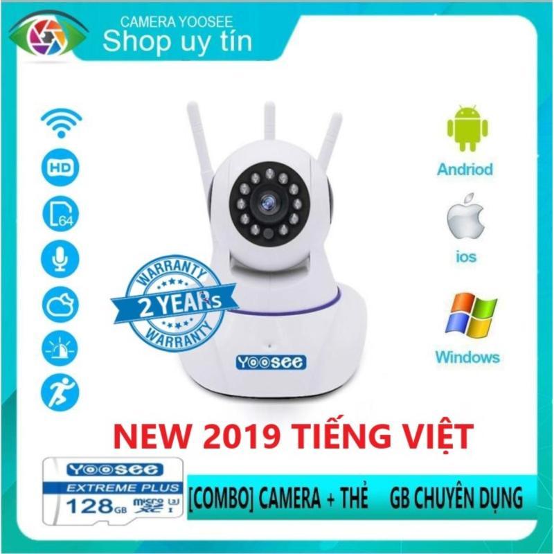 ( Tặng thẻ 128 gb + bộ sạc trị giá 200k )Camera yoosee 3 râu - Camera wifi- Camera giám sát - Camera an ninh  - Bảo hành 24 tháng 1 đổi 1 trong 1 tuần