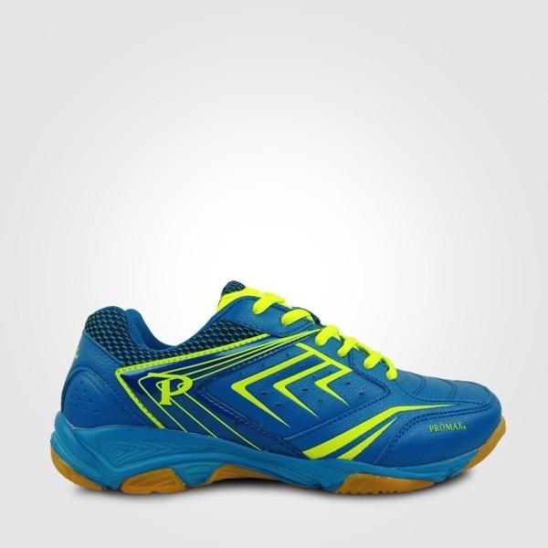Giày cầu lông nam nữ Promax PR19002, Giày thể thao nam nữ bóng chuyền, cầu lông, bóng bàn Promax, giày thể thao chuyên dụng Pr19002 màu trắng xanh mẫu mới 2020 đế cao su tổng hợp cao cấp
