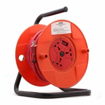 Ổ Lioa dây 20 mét quay tay Rulo phổ thông LiOA QN20-2-10A QN20-2-15A - Michi Electric