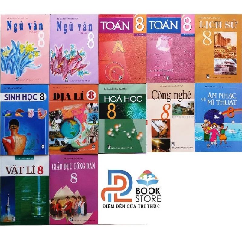 Bộ sách giáo khoa lớp 8 - 12 quyển (không có tiếng anh)
