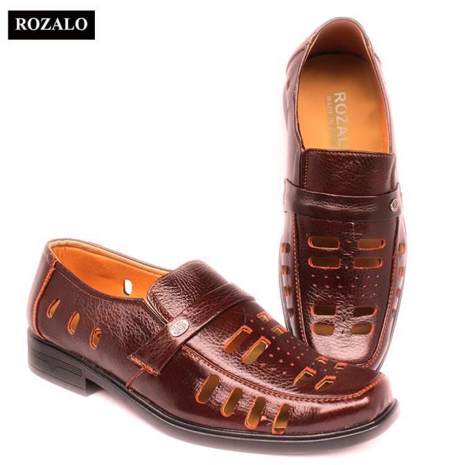 Giày lười nam đục lỗ da bò Rozalo R3586 giá rẻ