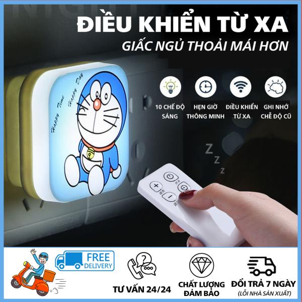 Bảng giá Đèn Ngủ Có Điều Khiển Từ Xa -  Đèn Ngủ Dễ Thương In Hình Doraemon, Chất Lượng Tốt, Sử Dụng Làm Đèn Ngủ Trang Trí Cho Phòng Ngủ, Bền Đẹp, Dễ Dàng Sử Dụng