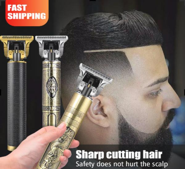 Tông đơ cắt tóc cạo râu có đầu cắm USB chuyên nghiệp cho nam Động cơ tốc độ cao Lưỡi dao độ cứng cao Salon tóc chuyên dùng Tông đơ thân màu vàng