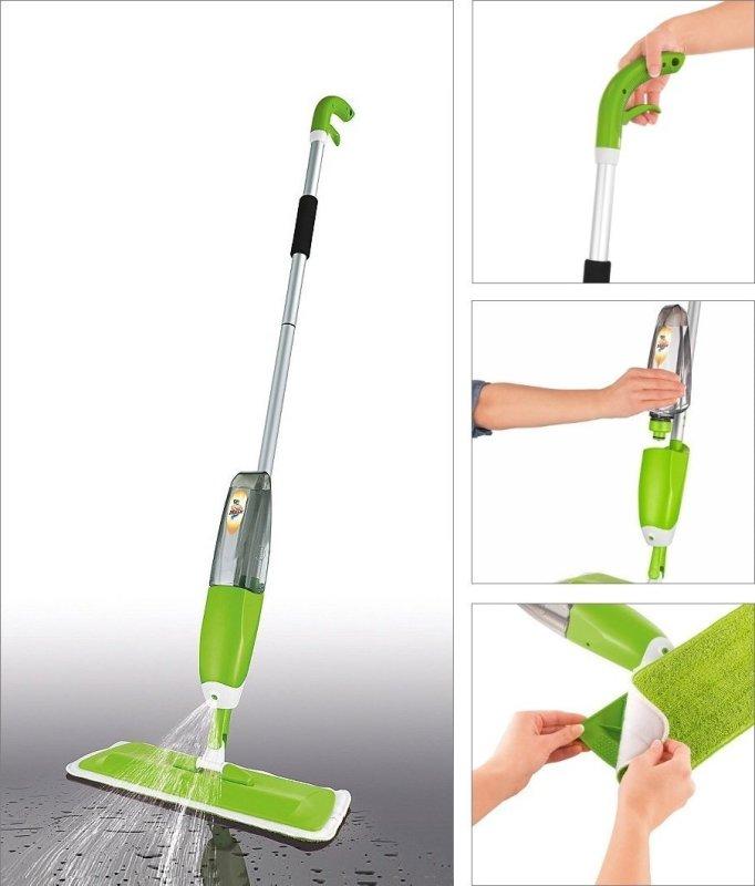 Cây lau nhà kèm bình xịt nước thông minh Healthy Spray Mop, cây lay nhà - Thiết kế cao cấp