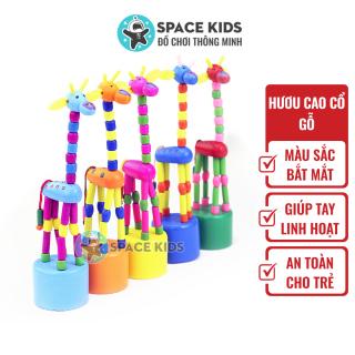 Đồ chơi gỗ cho bé Space Kids Hươu cao cổ thay đổi tư thế, nhiều màu sắc cho bé giúp tay linh hoạt thumbnail