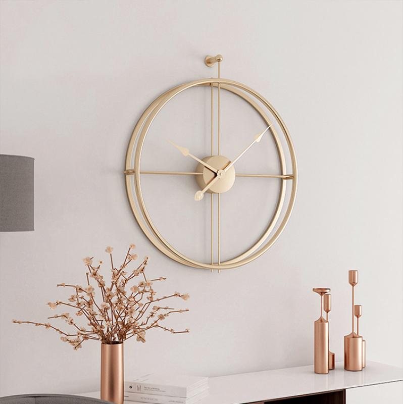 Đồng hồ treo tường kim trôi - Đồng Hồ không số hình tròn hiện đại decor trang trí phòng khách, phòng ngủ, spa - Quà Tân Gia bán chạy