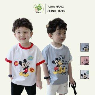 Áo cộc tay bé trai và bé gái hình Mickey chất liệu thun mát MinChu Kids size từ 6 đến 17 kg thumbnail