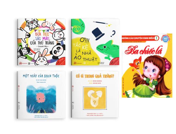 Mua Sự kỳ diệu của màu sắc - Combo 4 cuốn Ehon Nhật Bản cho bé 0 - 6 tuổi ( Tặng kèm cuốn Câu Chuyện Kinh Điển )