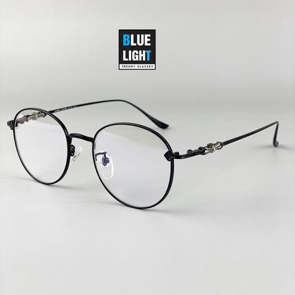 Giá bán Kính Giả Cận, Gọng Kính Cận Nam Nữ CH Mắt Oval Khung Kim Loại Mảnh Cứng Cáp Bạc, Đen Không Độ Hàn Quốc - BLUE LIGHT SHOP
