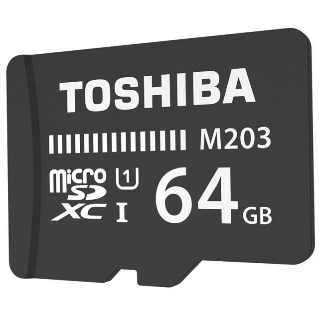 Thẻ Nhớ 64Gb TOSHIBA 100Mb/s UHS-1 M203 MicroSDHC (đen)