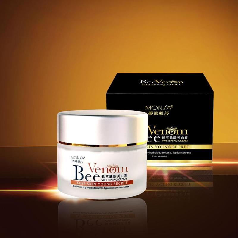 Kem Dưỡng Da Ban Đêm Tinh Chất Nọc Độc Ong Chúa Monsa Bee Peptide Whitening Cream 50g giá rẻ