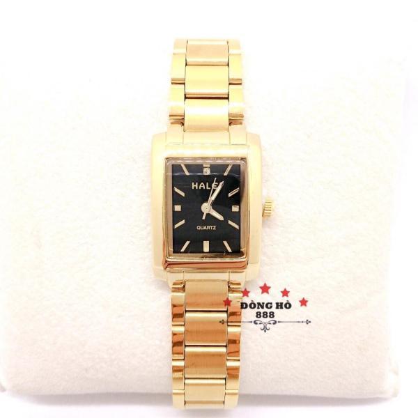 Nơi bán Đồng hồ nữ HALEI dây kim loại thời thượng ( HL465 Dây vàng mặt đen ) - TẶNG 1 vòng tỳ hưu phong thuỷ