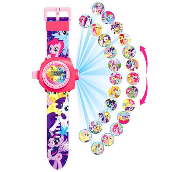Đồng hồ chiếu hình 3D điện tử đeo tay đủ hình nhân vật hoạt hình thú vị cho bé trai và bé gái – DH016